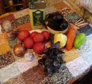 Ингредиенты для приготовления баклажанной икры фото | Ингредиенты для приготовления баклажанной икры