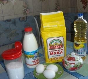 Продукты для приготовления традиционных блинов на молоке фото | Продукты для приготовления традиционных блинов на молоке