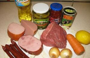 Ингредиенты для мясной солянки фото | Ингредиенты для мясной солянки